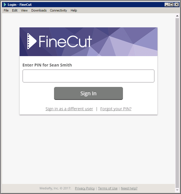 FineCut_App_LogIn_Screen_PIN.PNG